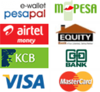 Payments are handled by PesaPal & MPESA